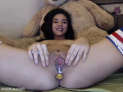 MsNatey butt plug and creamy squirt